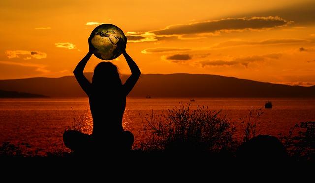 meditace při západu