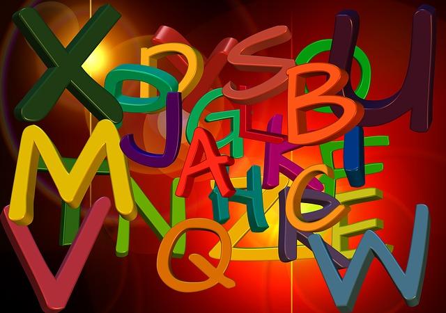 barevná písmena